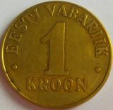Moneda 1 COROANA - ESTONIA, anul 1998 *cod 3706, Europa