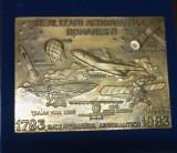SV * Romania  MEDALIA  REALIZARI AERONAUTICE ROMÂNEȘTI * PRIMUL ZBOR 1783 - 1983