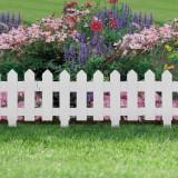 Bordura Gardulet Decorativ Plastic pentru Gazon sau Flori, Dimensiuni 40x30cm, Alb