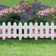 Bordura pt. pat de flori / gard - 40,5 x 29,5 cm - alb Best CarHome