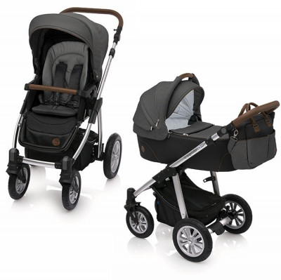 Carucior 2 in 1 Baby Design Dotty 10 Black foto