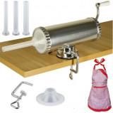 Carnatar Masina Aparat Manual Umplut Facut Carnat 1.5kg  5 Palnii + Sort, Micul Fermier