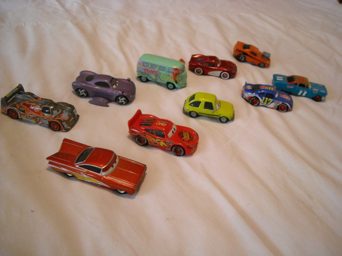 Disney Pixar Cars - Hasbro - 10 figurine masinute de metal - lot 3