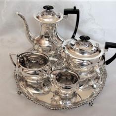 SERVICIU ENGLEZESC DE CAFEA SI CEAI DIN ARGINT MASIV 925 STERLING SILVER