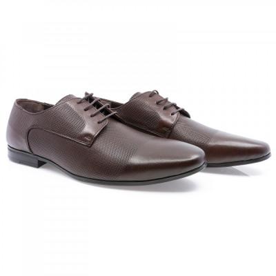 Pantofi barbati Goretti din piele naturala Gor-41209-Brw foto