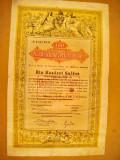 B688-I-Actiuni vechi 100 Gulden Austria 18681903. Marimi: 39/24 cm.