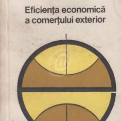 Eficienta economica a comertului exterior