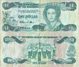 1984 , 1 dollar ( P-43a ) - Bahamas