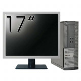 Calculator DELL Optiplex 3020 SFF, Intel Pentium G3220 3.00GHz, 4GB DDR3, 500GB SATA, DVD-RW + Monitor 17 Inch