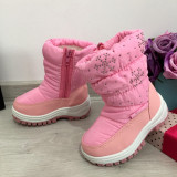Cumpara ieftin Cizme roz imblanite impermeabile de zapada pt fete copii 22 23 24 27