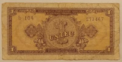 Republica Populara Romana - 1 Leu 1952 foto