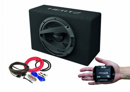 Pachet subwoofer auto Hertz DBX 30.3 + Amplificator Stetsom IR 280.1 + kit de cabluri complet