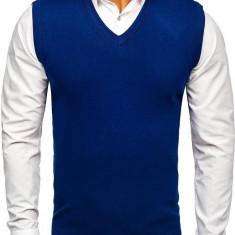 Pulover vestă bărbați albastru Bolf H1939