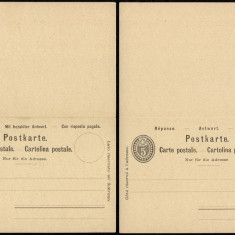 Switzerland - Postal History Rare Old Postal stationery + Reply UNUSED DB.124