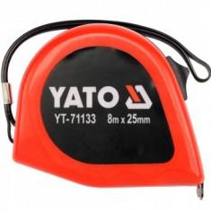 Ruleta cu banda otel Yato YT-71133, dimensiune 8m x 25mm