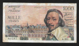 "Franta 1000 francs 1956 "" Richelieu"""