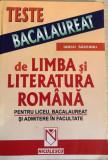 Teste de bacalaureat de limba si literatura  romana  Iancu Saceanu