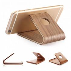 Suport Telefon din lemn pentru birou T100, Nuc