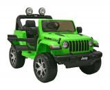 Cumpara ieftin Masinuta electrica 4x4 Premier Jeep Wrangler Rubicon, 12V, roti cauciuc EVA, scaun piele ecologica, verde