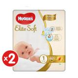 Pachet scutece Huggies Elite Soft, Nr 1, 3-5 kg, 164 buc