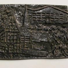 "PVM Aplica / Tablou fonta ""Orasul GUTERSLOH"" Germania / 1,300 kg / 20 x 14,50 cm"