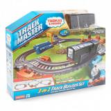 Set trenulet Fisher Price Track Builder Diesel 3 in 1, Thomas si prietenii