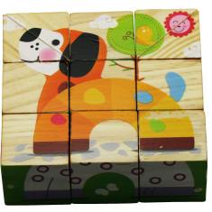 Cuburi Puzzle Animale haioase