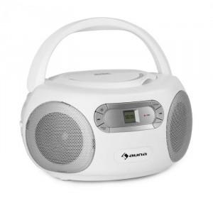 Auna Haddaway, CD boombox, CD player, bluetooth, FM, intrare AUX, display LED, alb
