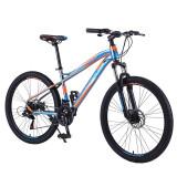 "Bicicleta Mountain Bike, 26"" cadru otel, roti 26 inch, 21 viteze, schimbator Shimano, suspensii pe furca, frana disc, PHOENIX"