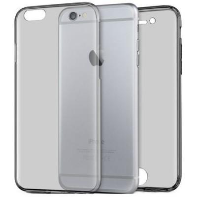 Husa Full TPU 360° fata + spate pentru iPhone 6 Plus / 6S Plus, Gri Transparent foto