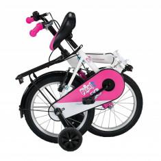 """Bicicleta Copii Umit Picolo Pliabila, Culoare Negru/Albastru, Roata 20"""", Cadru OPB Cod:20192000001"""