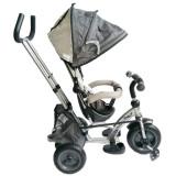 Tricicleta cu sezut reversibil Sunrise Turbo Trike Gri, Baby Mix