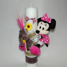 Lumanare pentru botez, 35X7 cm Disney - Young / Baby Minnie