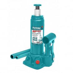 Cric hidraulic auto Total Industrial, 4 tone, supapa siguranta, tip butelie