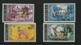 MONGOLIA 1984 FAUNA ANIMALE SALBATICE CERBI, Nestampilat