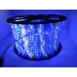 Instalatie Rola 100m led alb rece + albastru furtun luminos + alimentator inclus / instalatie de craciun