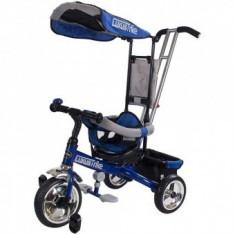 Tricicleta multifunctionala Copii Little Tiger - Albastru