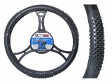 Husa volan masaj XL , material cauciucat, diametru 41-43cm Kft Auto, AutoMax Polonia