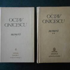 OCTAV ONICESCU - MEMORII 2 volume (1982, editie cartonata)