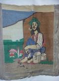 GOBLEN F.VECHI CUSUT MANUAL fara RAMA SUPERBA-TURC-TIGAN cu PIPA,T.GRATUIT