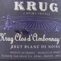 Sampanie Krug Clos d'ambonnay blanc de noirs brut champagne 1996