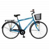 Bicicleta Oras Velors V2893A, Cadru otel 20inch, Roti 28inch, Frane Mecanice V-Brake (Albastru)