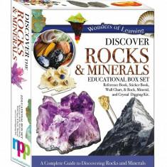 Descoperiți lumea rocilor,cristalelor cu fascinantul set cutie f mare cartonata