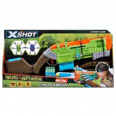 Set Arbaleta X-Shot Bug Attack cu 12 proiectile si 2 tinte mobile