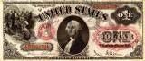 1 dolar 1878 Reproducere Bancnota USD , Dimensiune reala 1:1