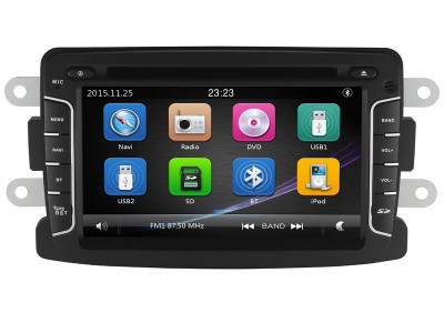 "Unitate Multimedia cu Navigatie GPS, Touchscreen HD 7"" Inch, Windows, Dacia Duster 2012- + Cadou Card Soft si Harti GPS 8Gb foto"
