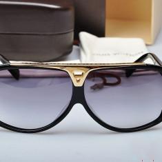 Ochelari Louis Vuitton Evidence Z0105E Rama neagra Lentile violet, Unisex, Protectie UV 100%, Degrade