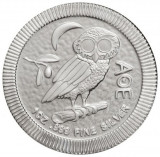 Moneda argint lingou, Bufnita ateniana(Athenian Owl)