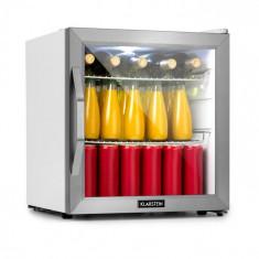 Klarstein Beersafe L Crstal White, frigider, A+, LED, 2 uși din sticlă de metal, sticlă, albă