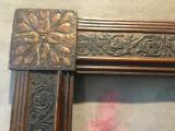 Arta / Design - Veche rama din lemn model deosebit pentru fotografii / oglinda !